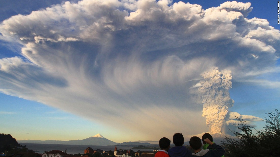 Chile's Calbuco volcano erupted Wednesday, April 22 2015, billowing a huge ash cloud over a sparsely populated, mountainous area in southern Chile.