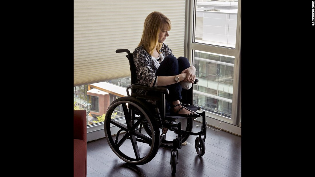 <strong>Adrianne Haslet-Davis</strong> is a ballroom dancer. She remembers walking through the crowd on Boylston Street, holding hands with her husband, Adam, and feeling happy and in love. Then the bombs went off. Her husband, who is in the military, told her they'd been in a terrorist attack. But the second bomb went off before they could leave. She knew immediately something was wrong with her foot, and could see blood everywhere. She couldn't hear her own screams and thought she was dead. They were dragged into the Forum restaurant, and a first responder recalled hearing her husband apologize to her over and over for bringing her to the event. She testified that he recently checked himself into a Veterans Affairs mental health program.