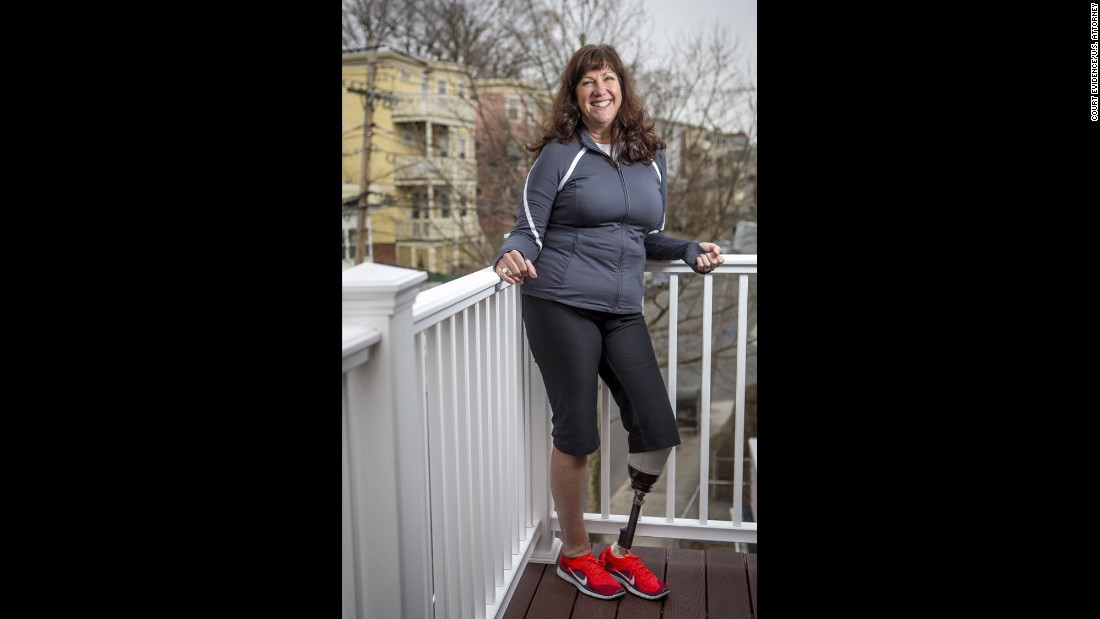 "<strong>Karen Rand McWatters </strong>lost a leg -- and one of her best friends. She and Krystle Campbell spent the day laughing and posting selfies on Facebook before heading to the finish line. She was knocked to the ground by the first blast, and heard the second before she could understand what was happening. Her foot was turned in the wrong direction, but she dragged herself toward Campbell. She couldn't see how badly hurt her friend was. ""I got close to her head, and we put our faces together. She very slowly said her legs hurt, and we held hands and very shortly after her hand went limp and we never spoke again."""