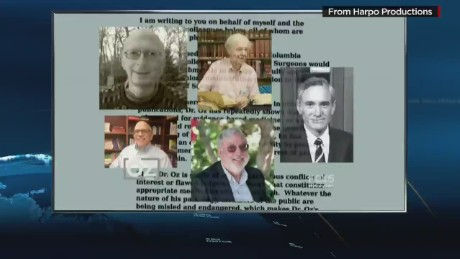 Dr. Oz accuses critics of conflict of interest_00005718