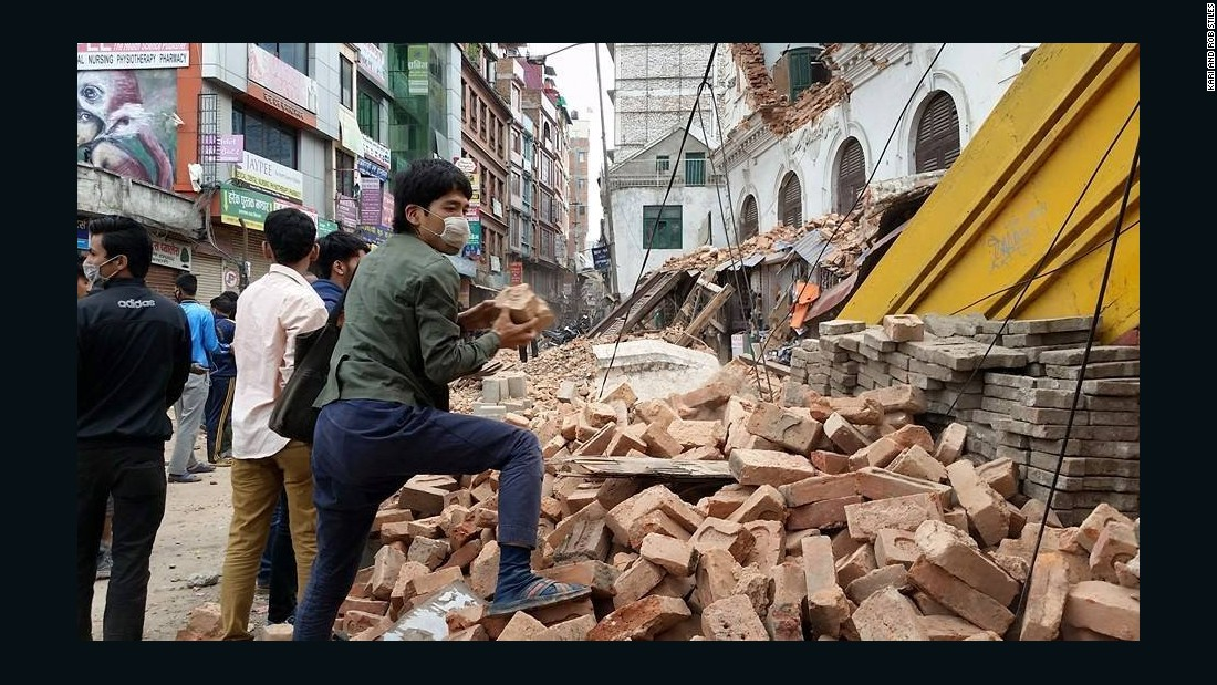 "A <a href=""http://www.cnn.com/2015/04/25/asia/nepal-earthquake-7-5-magnitude/index.html"" target=""_blank"">massive earthquake</a> centered less than 50 miles from Kathmandu rocked Nepal with devastating force early Saturday. Hundreds have been killed. Americans Rob and Kari Stiles in Kathmandu described the scene as a ""war zone."""