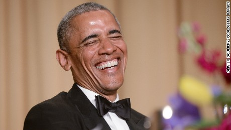 President Barack Obama attends the annual White House Correspondent's Association Gala at the Washington Hilton hotel April 25, 2015 in Washington, D.C.