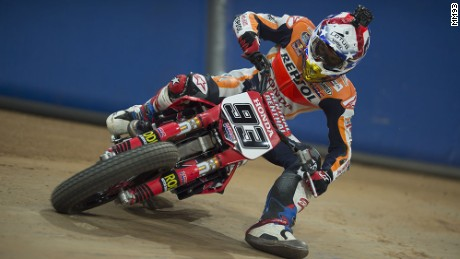 Marc Marquez is a keen dirt bike rider, bringing elements of dirt bike racing to his MotoGP riding style.