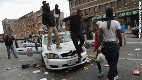 what do you all think of the Baltimore riots going on right now? 150427233401-16-baltimore-clashes-0427-large-169
