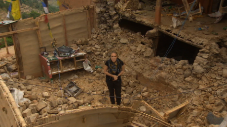 Small village completely devastated by quake