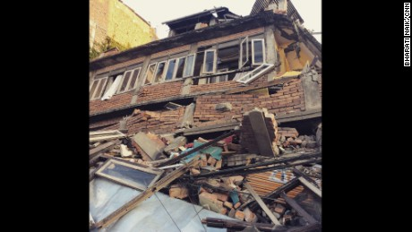 A magnitude 7.8 earthquake centered less than 50 miles from Kathmandu rocked Nepal with devastating force April 25, 2015. The earthquake and its aftershocks have turned one of the world's most scenic regions into a panorama of devastation. Photo by CNN's Bharati Naik, April 27.