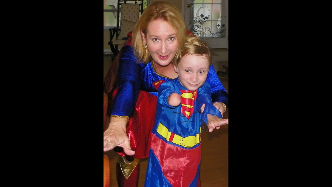 "<a href=""http://ireport.cnn.com/docs/DOC-979437"">Cynthia Falardeau</a> has encouraged her son, Wyatt, to seek out superhero role models like Superman. Falardeau says these heroes helped give her confidence while growing up."