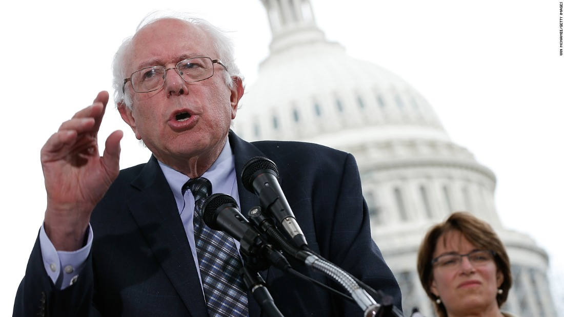 On September 8, 2014, Sanders speaks outside the U.S. Capitol at a press conference where members of Congress discuss a joint resolution proposing a constitutional amendment relating to contributions and expenditures intended to affect elections.