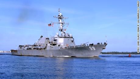 U.S. Navy escorts ships after Iran seizure...