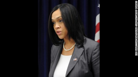 Marilyn Mosby, Baltimore City Attorney, speaks in a February 2015 file image.