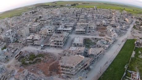 Kobani destruction ISIS aftermath drone orig_00000106