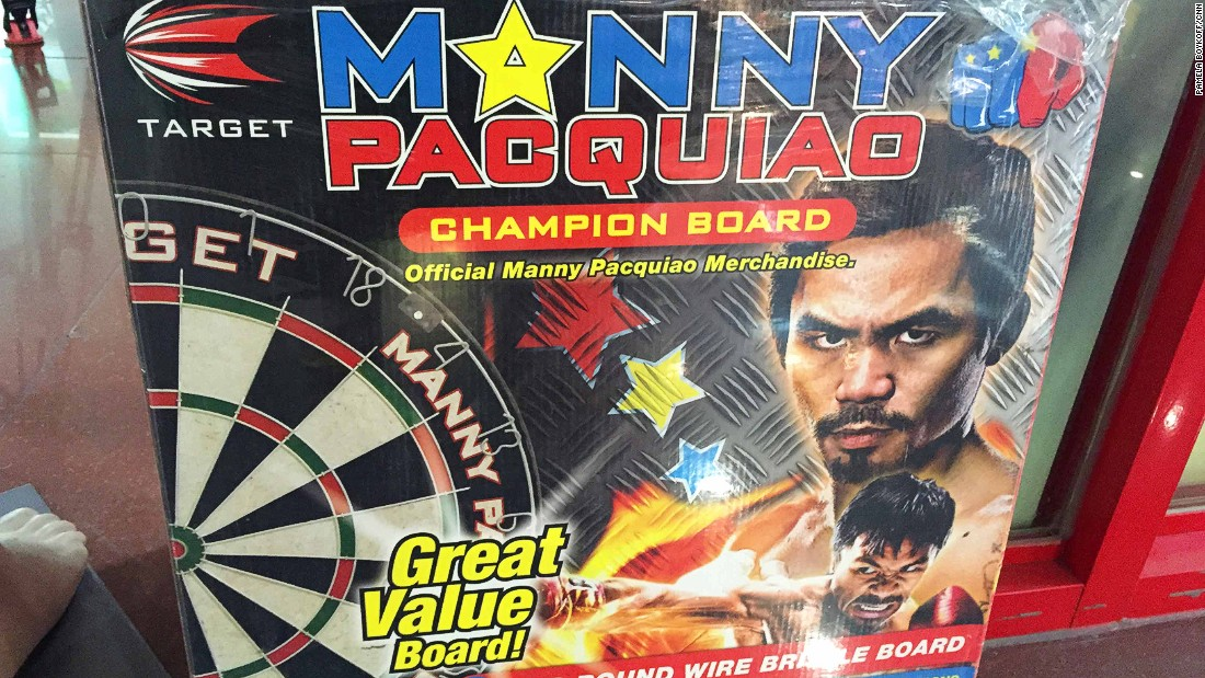 An official Manny Pacquiao dart board -- also known as the champion board.