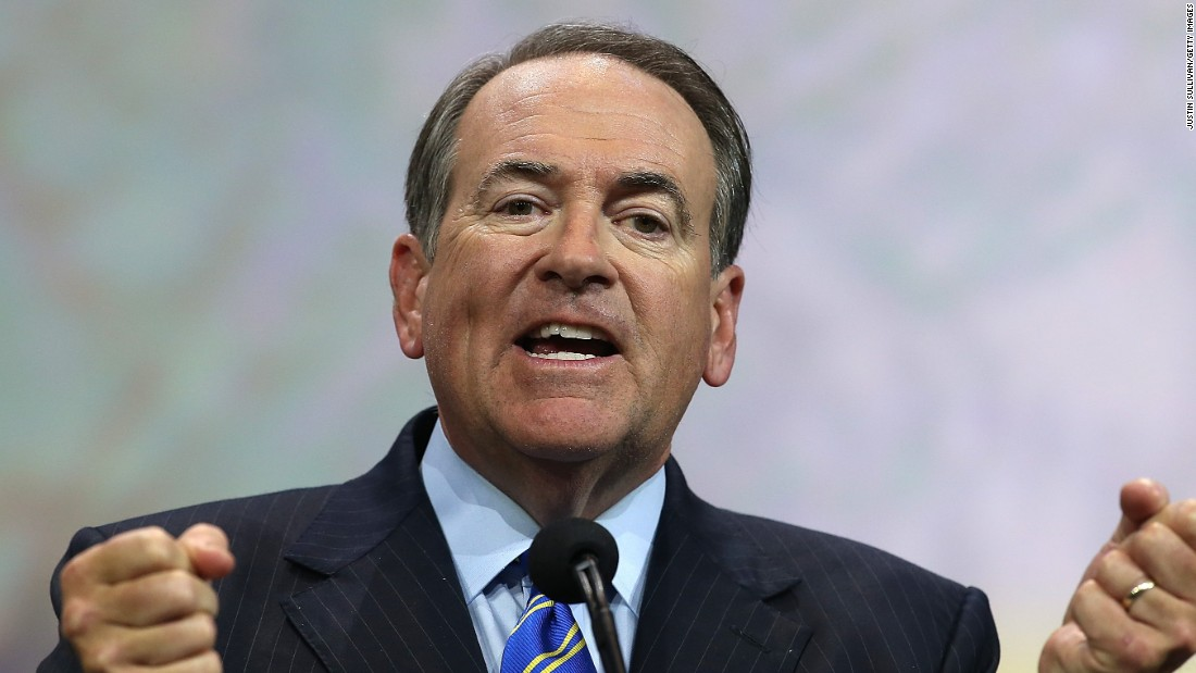 "Former Arkansas Gov. Mike Huckabee formally <a href=""http://www.cnn.com/2015/05/04/politics/mike-huckabee-2016-presidential-announcement/index.html"" target=""_blank"">announced</a> his candidacy at a rally in Hope, Arkansas, on May 5. Huckabee unsuccessfully ran for the Republican nomination in 2008. This is his second attempt.<br /><br />""I truly am from Hope to higher ground,"" Huckabee told the crowd during his announcement. ""So it seems perfectly fitting that it would be here that I announce that I am a candidate for President of the United States of America."""