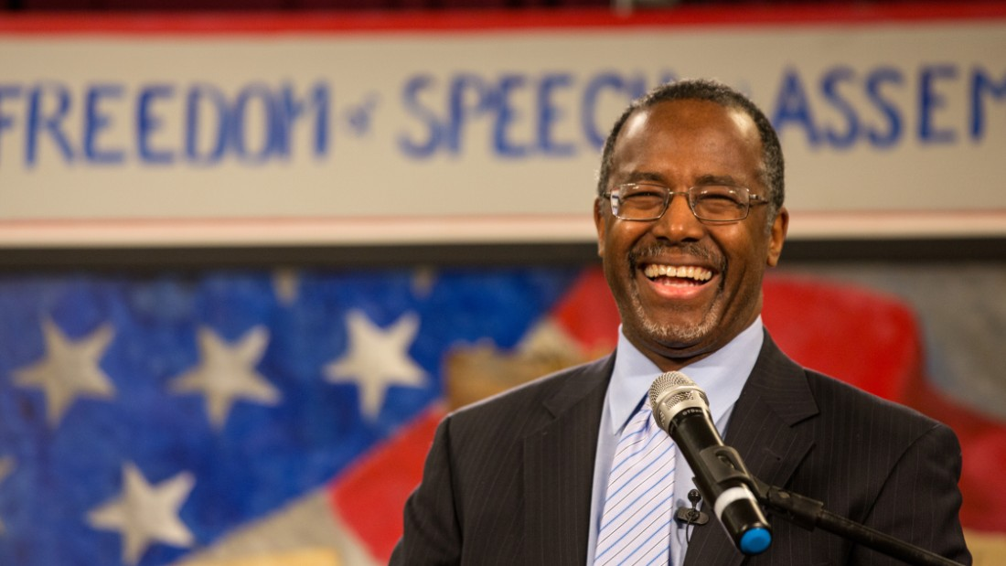 Carson speaks at the South Carolina Tea Party Coalition convention on January 18, 2015, in Myrtle Beach, South Carolina. A variety of conservative presidential hopefuls spoke at the gathering on the second day of a three-day event.