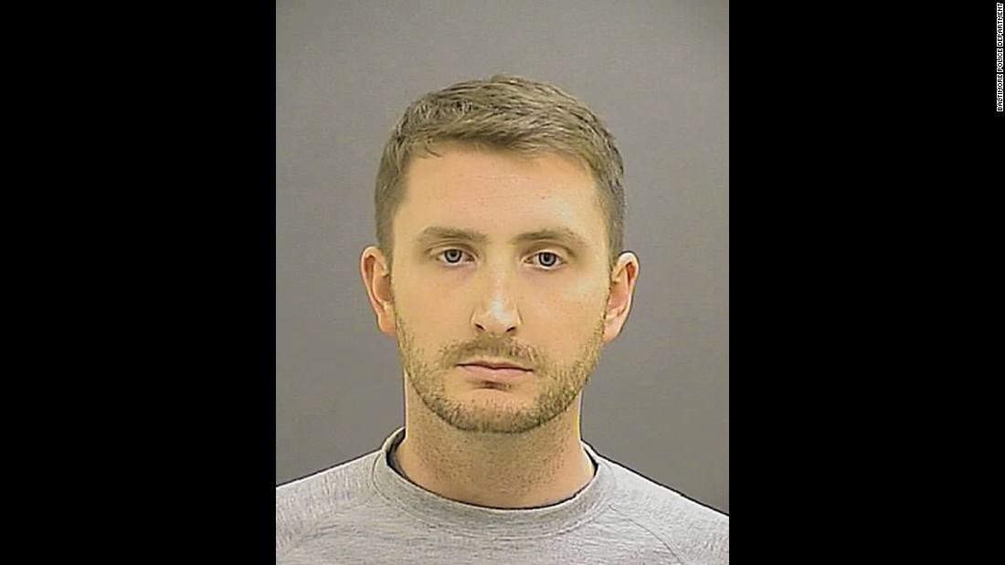 Officer Edward M. Nero, 29, was on bicycle patrol and was involved in the arrest of Freddie Gray.  Baltimore City State's Attorney Marilyn Mosby said Nero held Gray down until the transport van arrived and was involved in cuffing and shackling Gray. Nero, on the Baltimore police force since 2012, was indicted on charges of second-degree intentional assault, two counts of misconduct in office and reckless endangerment.