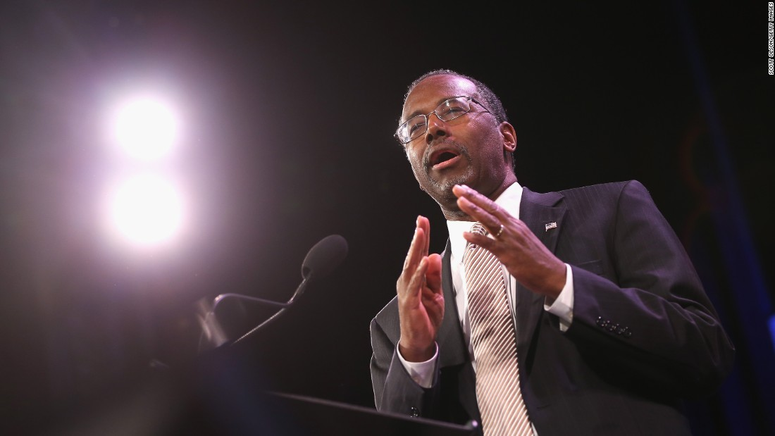 "Republican Dr. Ben Carson <a href=""http://www.cnn.com/2015/05/04/politics/ben-carson-2016-presidential-announcement/"" target=""_blank"">announced</a> he was running for President during a speech May 2 to thousands in Detroit. The retired neurosurgeon and surprise conservative star had been exploring the idea of running for a few months before the announcement.<br /><br />""I'm probably never going to be politically correct, because I'm not a politician,"" he said in his announcement. ""I don't want to be a politician. Because politicians do what is politically expedient -- I want to do what's right."""