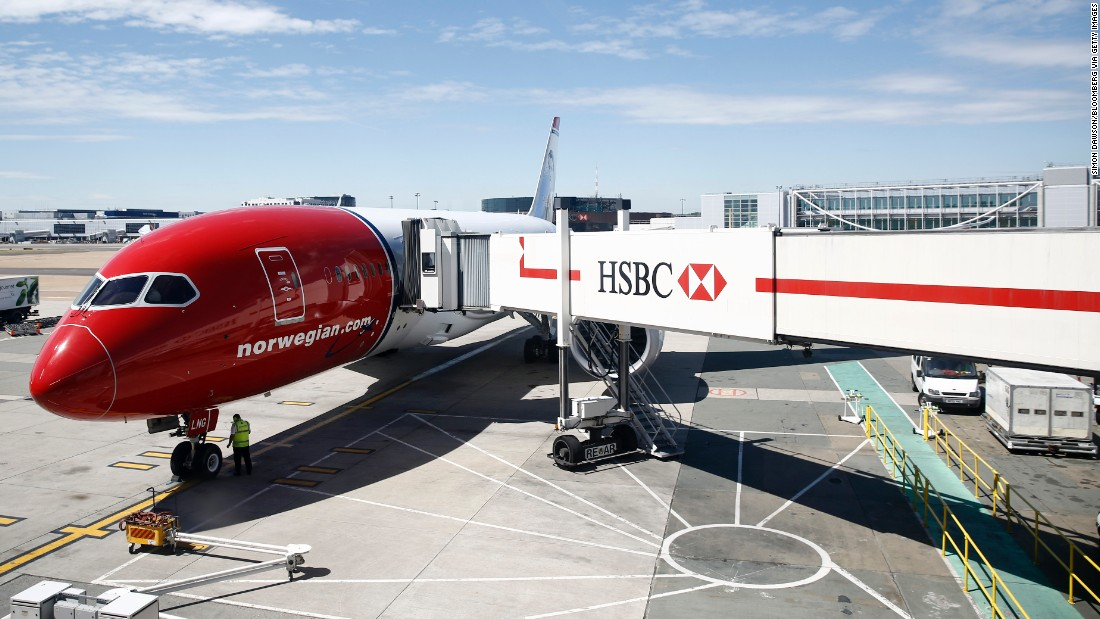 This Dreamliner operated by Norwegian Air Shuttle is almost ready to begin the company's inaugural flight to New York from the south terminal at London's Gatwick Airport on July 3, 2014.