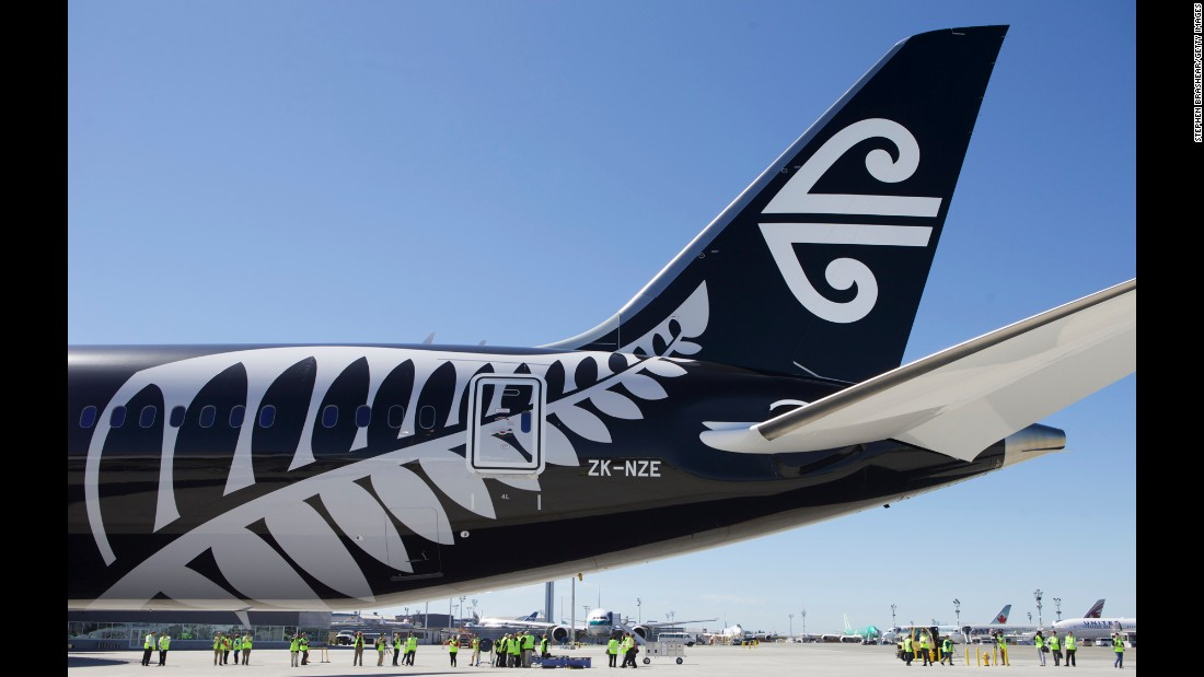 People tour the first 787-9 Dreamliner delivered to Air New Zealand in Everett, Washington, on July 9, 2014. This was the first delivery of the long-haul version of the 787, featuring a fuselage 20 feet longer than the 787-8.