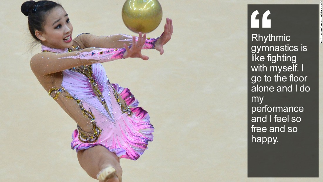 """She's the reluctant """"fairy"""" who has charmed a nation with her joyous rhythmic gymnastics routines. <a href=""""/2015/05/06/sport/son-yeon-jae-rhythmic-gymnastics-korea-feat/index.html"""" target=""""_blank"""">Read more:</a>"""