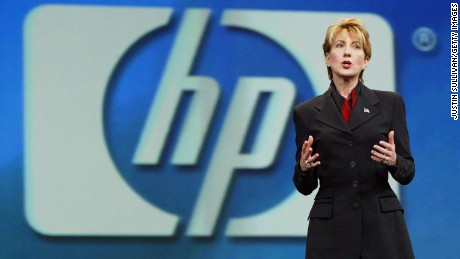 Hewlett Packard CEO Carly Fiorina delivers a keynote address at the 2003 Oracle World Conference September 11, 2003 in San Francisco, California. Oracle's annual U.S. technology conference, which runs through today, drew more than 20,000 partners and customers.