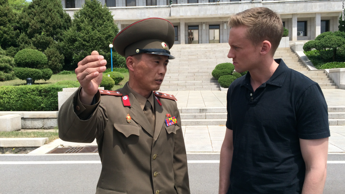 "CNN correspondent Will Ripley and photojournalist Brad Olson traveled to North Korea after the regime offered them <a href=""http://www.cnn.com/2015/05/02/asia/cnn-inside-north-korea/index.html"" target=""_blank"">a surprise invitation to return</a> to one of the most mysterious countries on earth. They aren't sure why the invitation was offered, what to expect, or even how long they'd be there. Check out the pictures they've taken to document their journey. <strong>HERE: </strong>Junior Lt. Colonel Nam Dong Ho speaks with Will Ripley, who was granted rare access to the DMZ on Monday, May 4, 2015."