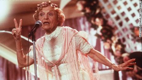 "1998 Ellen Albertini Dow stars as Rosie in New Line Cinema's comedy, ""The Wedding Singer."""