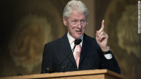 Former U.S. President Bill Clinton speaks at Georgetown University April 21, 2015 in Washington, DC. Clinton delivered the third part of a four part series of lectures he is giving on the topic of 'Purpose' - how a clear and inclusive sense of purpose can drive a life of service.
