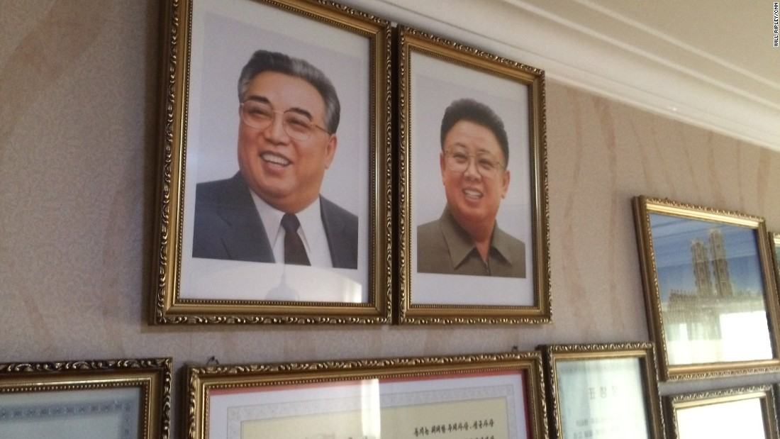 Portraits Of Late Leaders Kim Il Sung And Kim Jong Il Housing