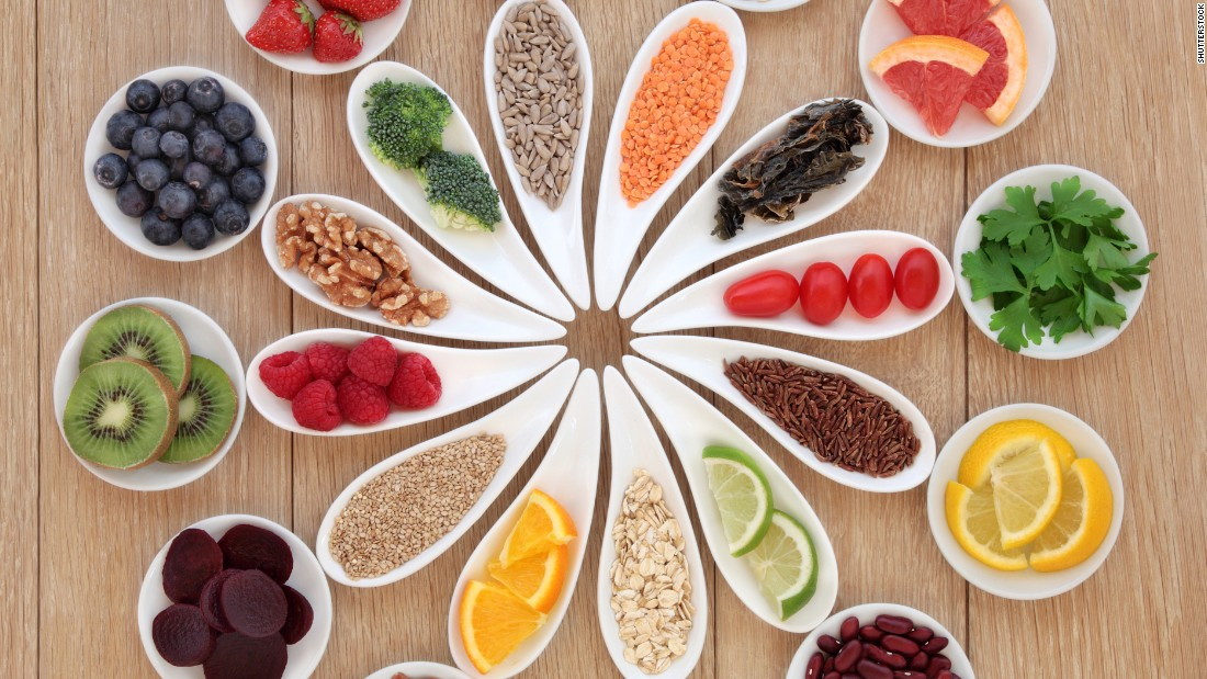 "Researchers defined a ""healthy diet"" as one containing lots of fruits and vegetables, nuts, fish, moderate alcohol use and minimal red meat. Click through our gallery of superfoods for what to include in your healthy diet."