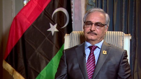 Libyan Gen. Khalifa Haftar has said his country would not cooperate with the EU on its military plan.