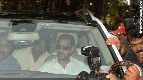 Bollywood superstar Salman Khan was found guilty Wednesday of running over five men sleeping on a Mumbai pavement, killing one of them.