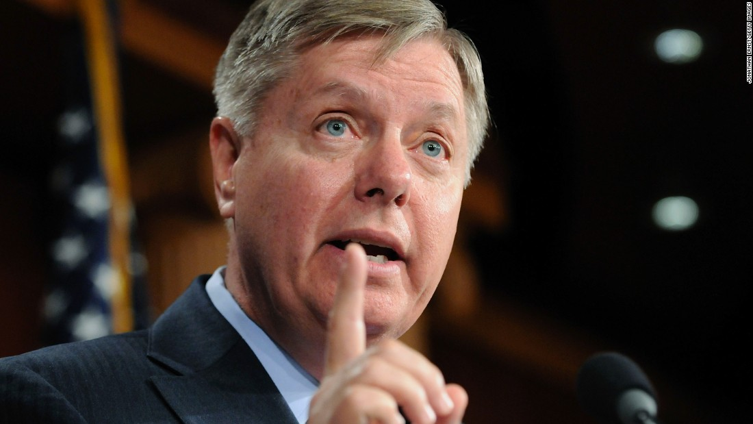 Graham speaks to reporters after a news conference about his Social Security reform plan at the U.S. Capitol on April 13, 2011.
