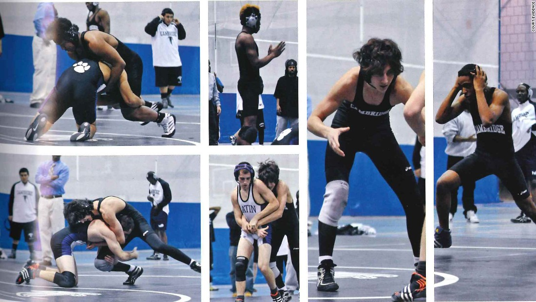 This collection of photos of Dzhokhar Tsarnaev in his wrestling days was introduced by the defense.