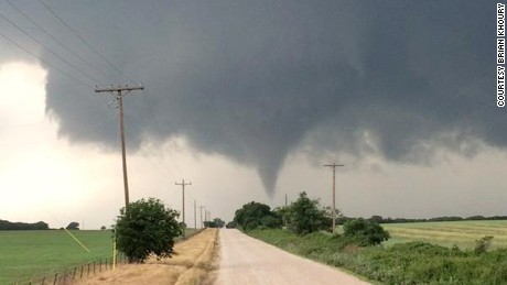 A tornado moves near Cisto, Texas, on Saturday afternoon, May 9.