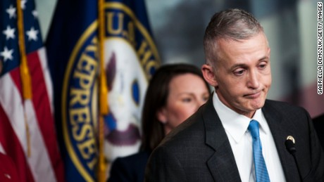 Chairman Trey Gowdy (R-SC) of the House Select Committee on Benghazi speaks to reporters at a press conference on the findings of former Secretary of State Hillary Clinton's personal emails at the U.S. Capitol on March 3, 2015 in Washington, D.C. The New York Times reported that Clinton may have violated the law by using a personal email account for official business at the State Department.