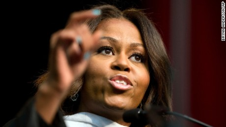 First lady Michelle Obama delivers the commencement address at Tuskegee University, Saturday, May 9, 2015, in Tuskegee, Ala. (AP Photo/Brynn Anderson/AP)