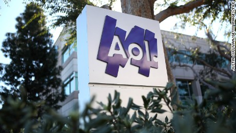 PALO ALTO, CA - FEBRUARY 07: The AOL logo is posted on a sign in front of the AOL Inc. offices on February 7, 2011 in Palo Alto, California. Online company AOL Inc. announced today that it is purchasing online news website Huffington Post for $315 million. (Photo by Justin Sullivan/Getty Images)