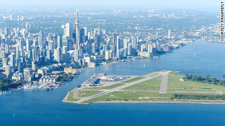 Billy Bishop Toronto City Airport is a small facility located on an island in Lake Ontario in Canada's largest city.