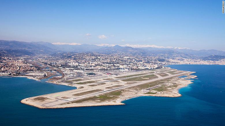 Nice Cote d'Azur Airport is located 3.7 miles southwest of Nice, in the Alpes-Maritimes department of France. It's the main point of arrival for passengers to the Cote d'Azur (French Riviera) area.