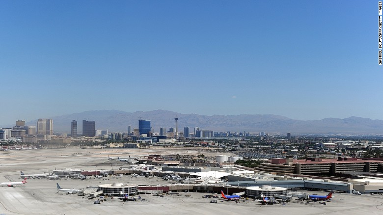 "For those with dreams of hitting it big on the tables, nothing beats the flight into the Las Vegas McCarran International Airport. Those in the window seat get to see the city appear magically from the desert, as views of glittering Las Vegas Boulevard -- aka ""the Strip"" -- come into view."