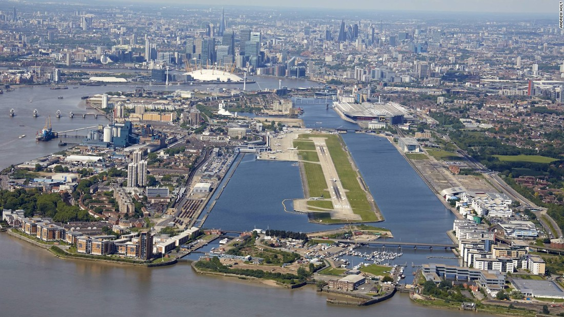 No need for an express train when you're flying into London City Airport, the closest airport to central London. On a clear day, those in a window seat will get great views of the Thames and London landmarks. For pilots, London City Airport offers a challenging landing. PrivateFly says the glide path is set at stomach-churning 5.8 degrees as opposed to the usual 3 degree glide path.