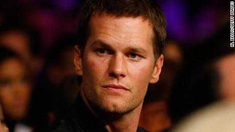 NFL quarterback Tom Brady attends the welterweight unification championship bout on May 2, 2015 at MGM Grand Garden Arena in Las Vegas, Nevada.