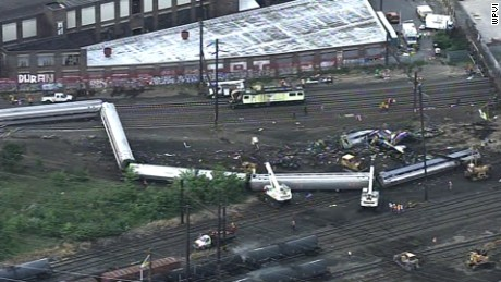 Amtrak train derailment in Philadelphia