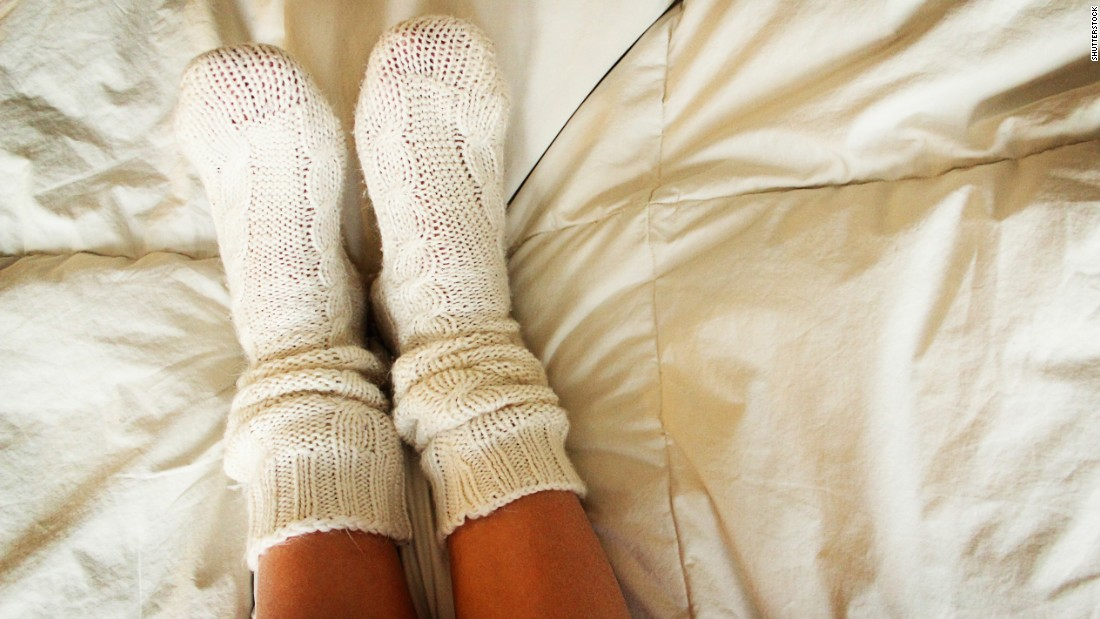 Did you know that having warm feet can help you sleep? Pull on a pair of socks before bed to speed up how quickly you'll fall asleep.
