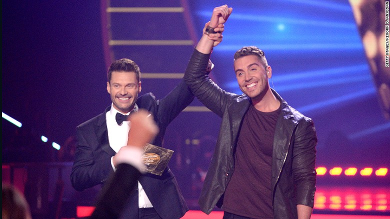 "Seacrest, left, named Nick Fradiani the winner of season 14 of ""American Idol"" in May 2015. Fradiani has yet to release an album, but his single ""Beautiful Life"" was <a href=""http://fox13now.com/2015/05/14/american-idol-winner-fradiani-to-sing-official-song-for-fox-fifa-womens-world-cup/"" target=""_blank"">the official theme for the seventh FIFA Women's World Cup.</a>"