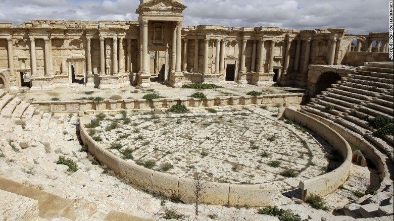 ISIS video shows execution of 25 men in ruins of Syria amphitheater