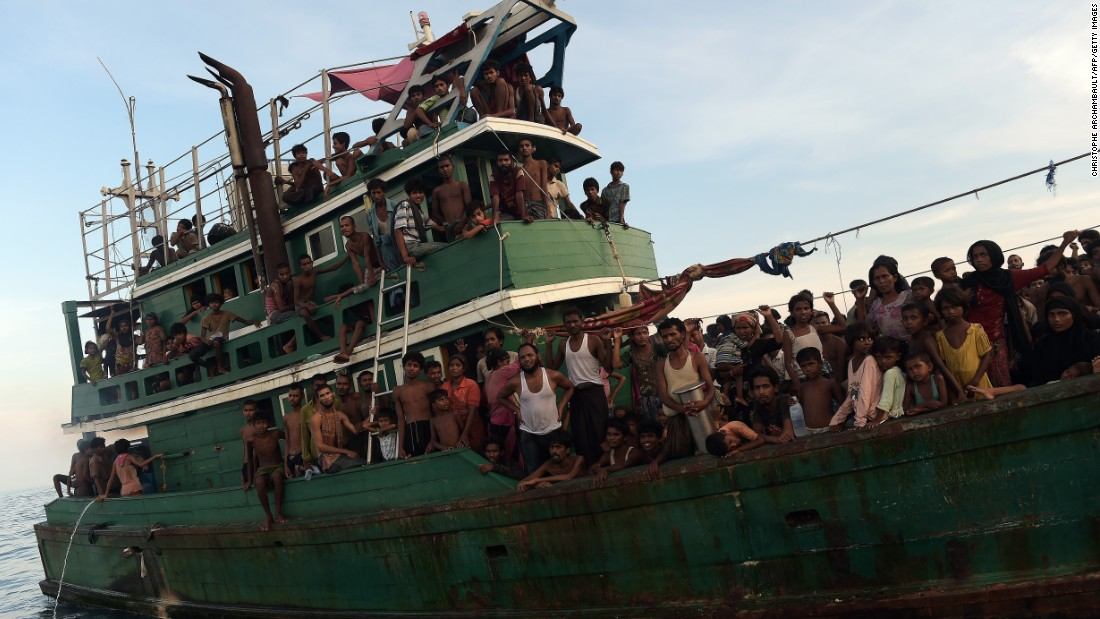 A boat carrying about 300 Rohingya men, women and children was found drifting in Thai waters off the southern island of Koh Lipe in the Andaman sea on Thursday, May 14.