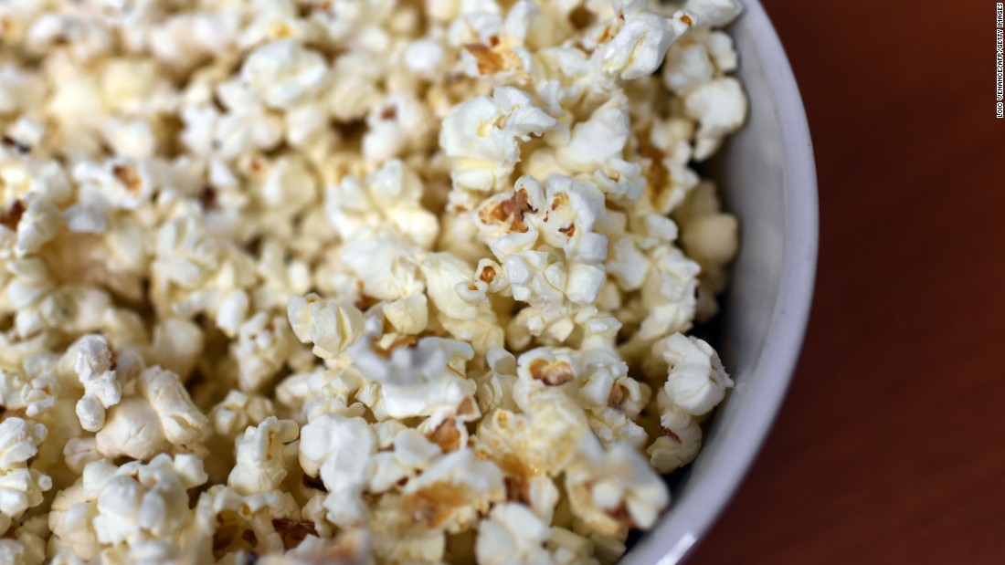 Popcorn is an easy way to add more fiber into your day.