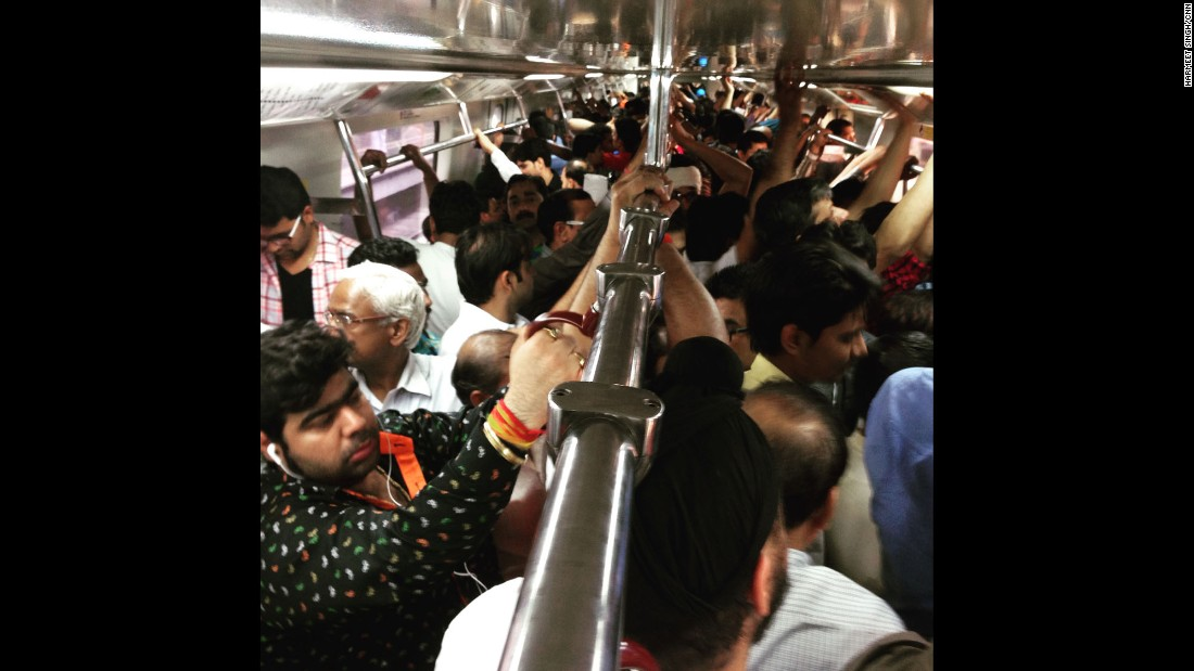 """INDIA: """"My weekend Metro to Old Delhi. A 30-minute journey in two subway trains filled with flavor of a rapidly urbanizing nation of 1.2 billion. The imagery it invokes is of chaos, confusion and a jostle for space!"""" - CNN's Harmeet Singh. <br />Follow <a href=""""http://instagram.com/harmeetshahsingh"""" target=""""_blank"""">@harmeetshahsingh</a> and other CNNers on the <a href=""""http://instagram.com/cnnscenes"""" target=""""_blank"""">@cnnscenes</a> gallery on Instagram for more images you don't always see on news reports from our teams around the world."""
