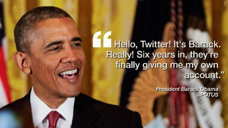 Although he and the White House already had Twitter accounts, Barack Obama wasn't given his own President of the United States account on Twitter until May 18, 2015. Within hours he was approaching one million followers -- and conspicuously following almost every Chicago sports team except the rival Cubs